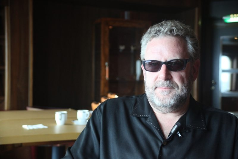 Drummer Jeff Hamilton, during video interview on the Jazz Cruise 2012