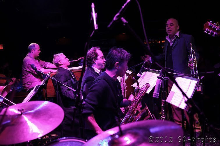 Steven Bernstein (at right) and his Millennial Territory Orchestra, Winter Jazz Fest 2012