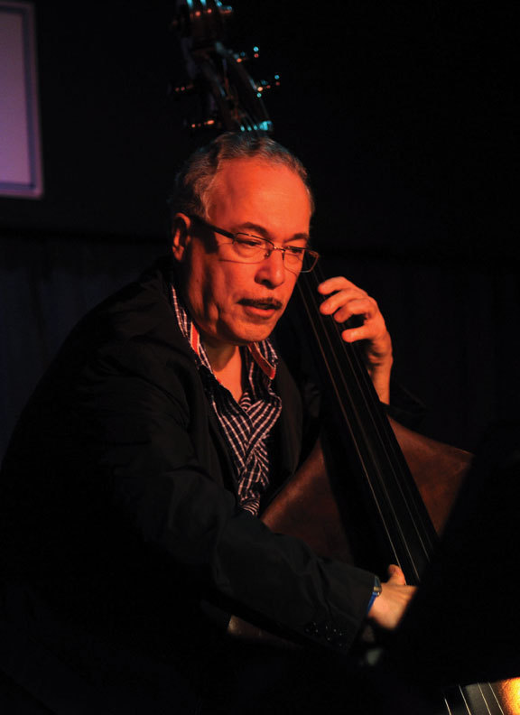 "Eddie Gomez at the Blue Note in May 2010, during the performances that became ""Further Explorations"""