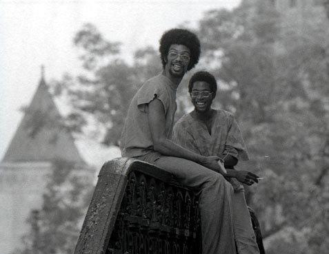 Gil Scott-Heron (left) and collaborator Brian Jackson in Washington, D.C., 1970