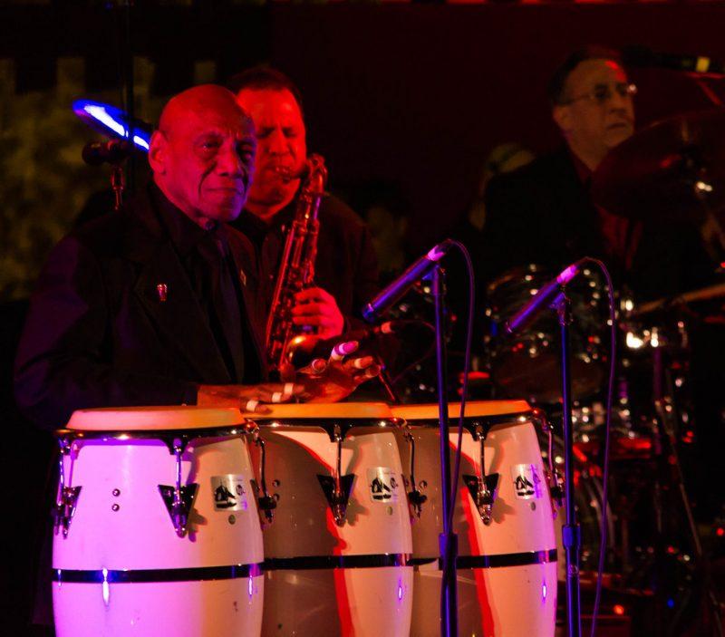 Candido, 91, at International Jazz Day, NYC, 4-12
