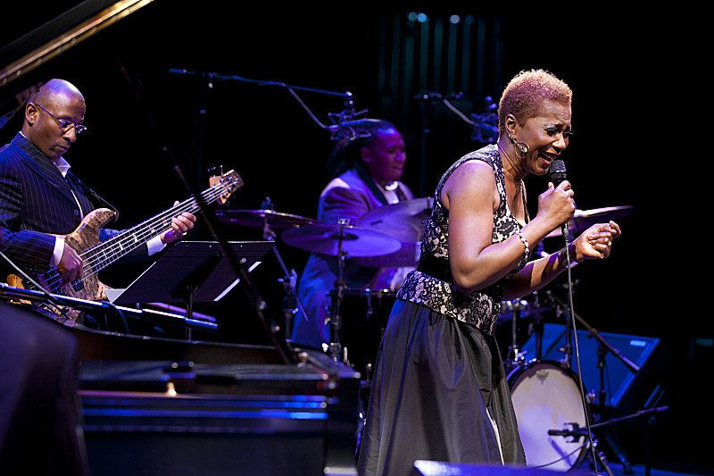 Carmen Lundy sings at the 2012 Mary Lou Williams Women in Jazz Festival; the Kennedy Center, Washington, D.C.