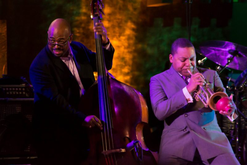 Christian McBride and Wynton Marsalis, International Jazz Day, UN, NYC, 4-12