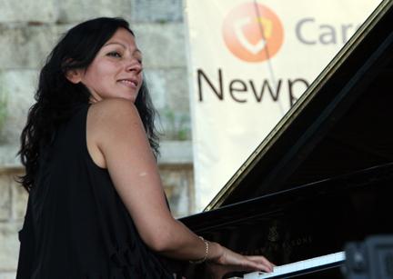 Amina Figarova at 2010 CareFusion Newport Jazz Festival