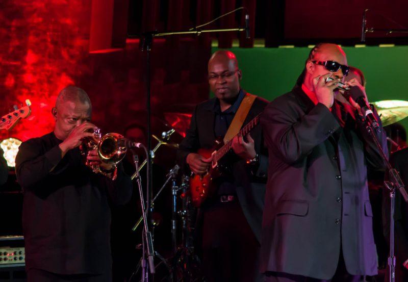 Hugh Masekela, Lionel Loueke, Stevie Wonder, International Jazz Day, NYC, 4-12