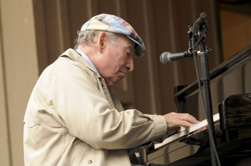 Performance by George Wein at 2010 Monterey Jazz Festival