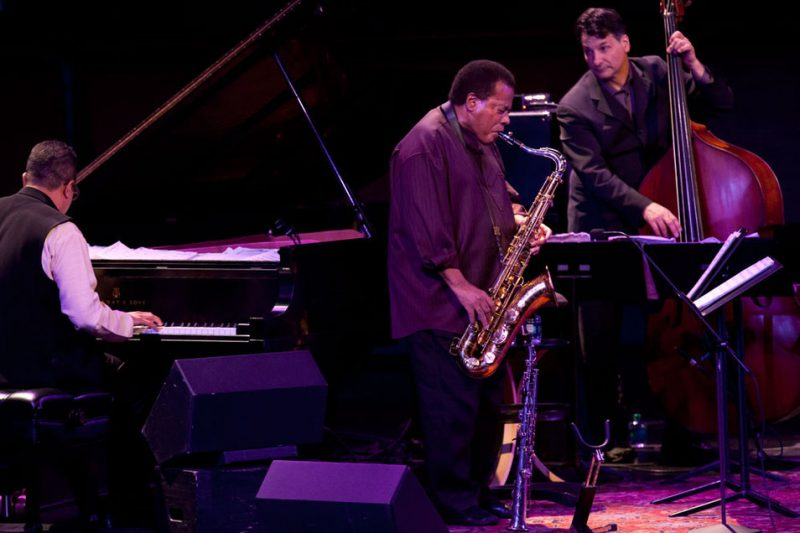 Danilo Pérez, Wayne Shorter and John Patitucci (from left) at Jazz at Lincoln Center, April 2012