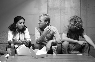 Esperanza Spalding, left, with the indie-pop band Noise for Pretend in early 2002
