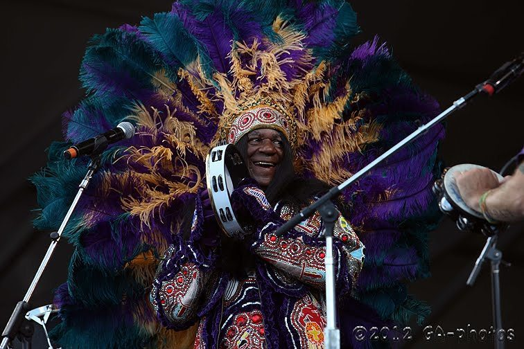 Big Chief Monk Boudreaux at New Orleans Jazz Fest 2012
