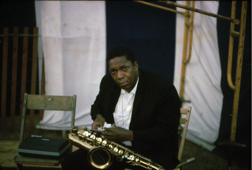 John Coltrane, Newport, circa 1966 (photo: George Wein)