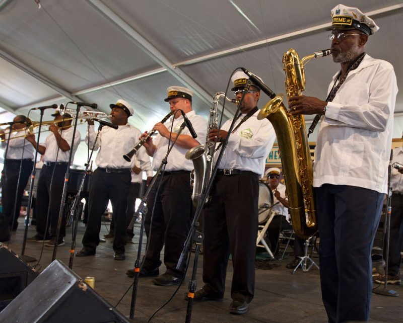Treme Brass Band at New Orleans Jazz Fest 2012