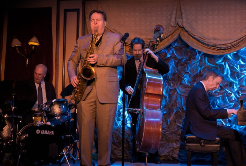 Chuck Riggs, Harry Allen, Joel Forbes & Bill Cunliffe at Feinstein's, NYC, 3-12