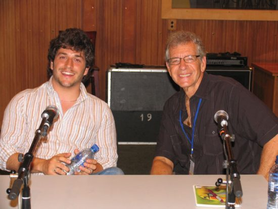 Francesco Cafiso and JazzTimes writer Thomas Conrad in Latvia image 0