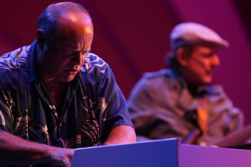 John Medeski (foreground), Jack Bruce (background), Playboy Jazz Festival 2012