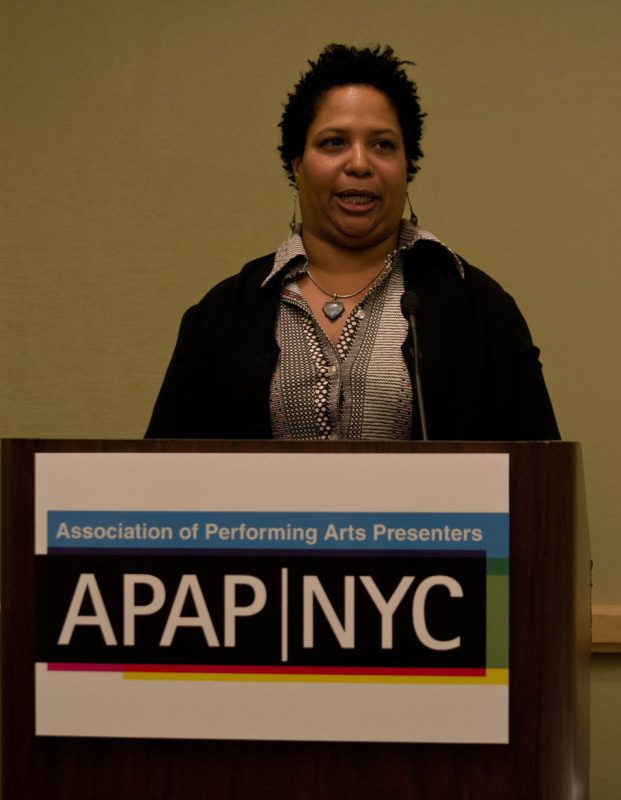 Vocalist Fay Victor talks about her life in music in a presentation during the JazzTimes DIY Crash Course in January 2012, as part of Jazz Connect at APAP|NYC