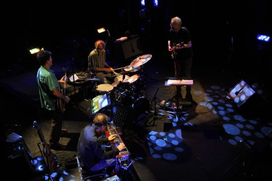 Bill Frisell, Greg Leisz, Tony Scherr and Kenny Wollesen (clockwise from top right) perform the music of John Lennon at the 2012 Montreal International Jazz Festival  image 0