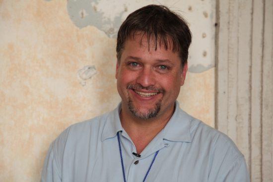 Jason Olaine, backstage at 2011 Newport Jazz Festival image 0