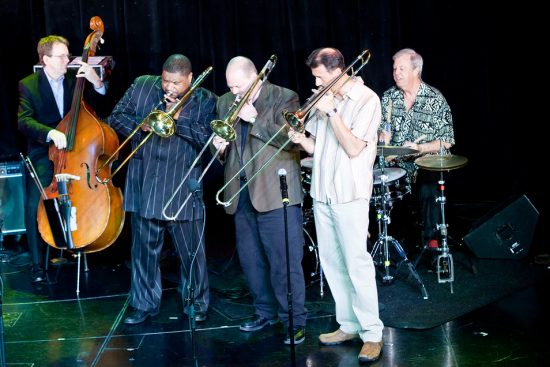 Tom Kennedy, Wycliffe Gordon, John Allred, John Fedchock, & Butch Miles on The Jazz Cruise 2011 image 0