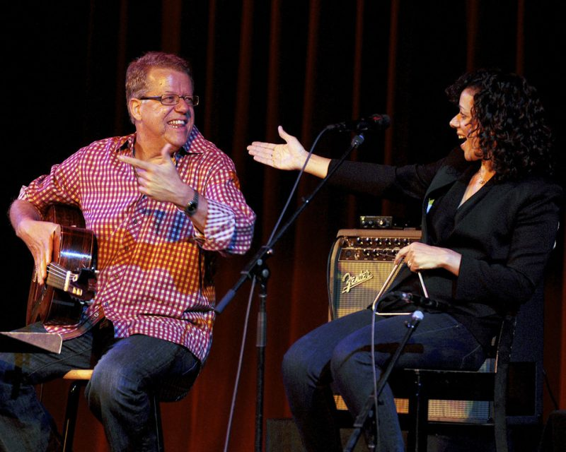 Romero Lubambo and Luciana Souza in performance at Stanford Jazz Festival in June 2012