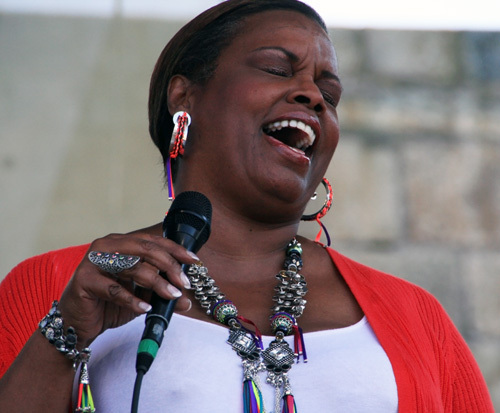 Singer Dianne Reeves at the 2012 Newport Jazz Festival