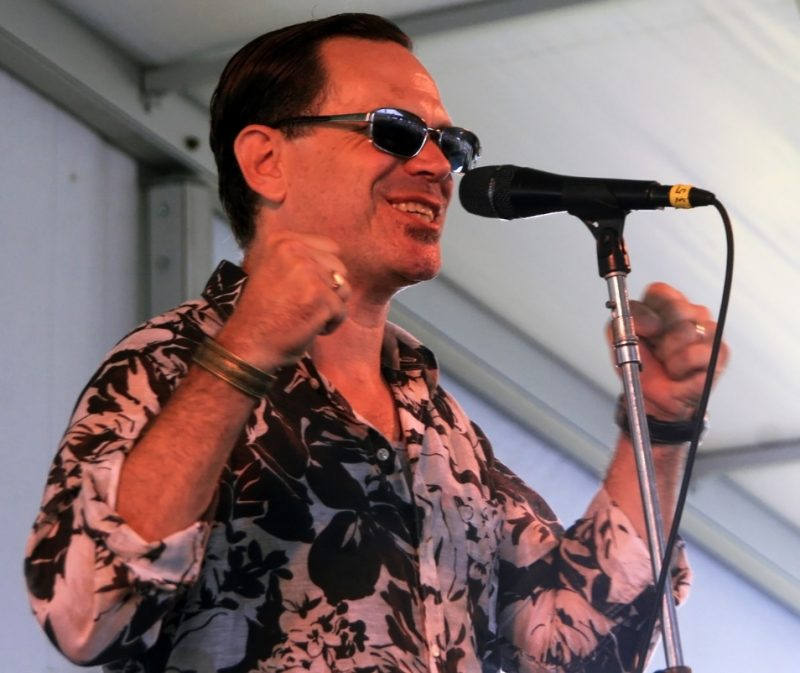 Singer Kurt Elling performed with his quartet and John Hollenbeck's Claudia Quinter +1 band at the 2012 Newport Jazz Festival