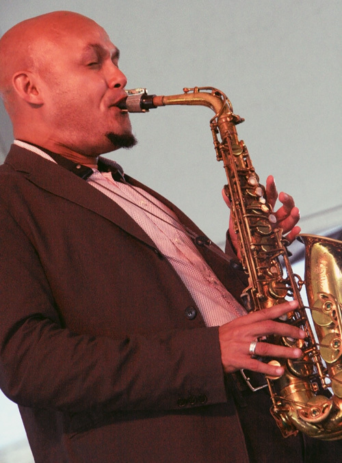 Alto saxophonist Miguel Zenón performed with his Rayuela Quartet at the 2012 Newport Jazz Festival