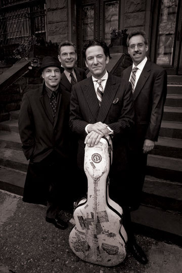 John Pizzarelli (front) and his quartet (Larry Fuller, Martin Pizzarelli, Tony Tedesco) 2009