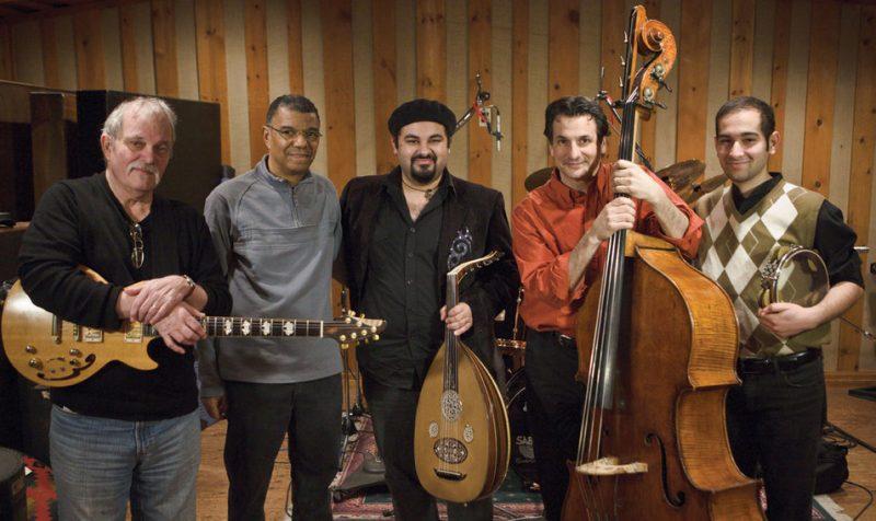 John Abercrombie, Jack DeJohnette, Joseph Tawadros, John Patitucci and James Tawadros in 2010