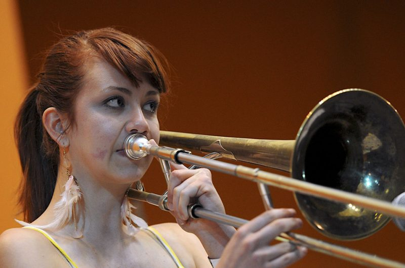Natalie Cressman performing at the 2012 San Jose Summer Jazz Fest