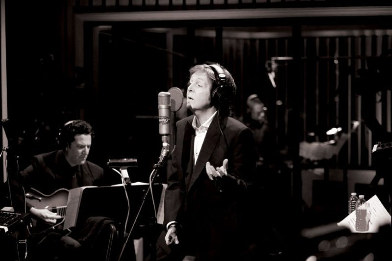 John Pizzarelli backing Paul McCartney at Capitol Studios, L.A., 2012