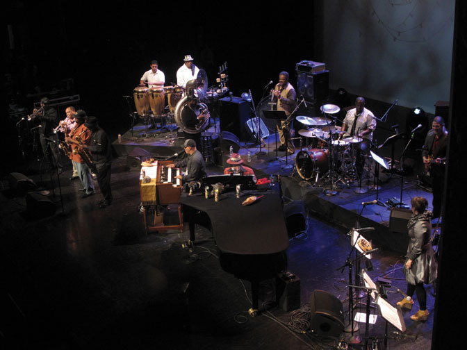 Dr. John (piano), Ivan Neville (organ) and the Dirty Dozen Brass Band, Brooklyn, 2012