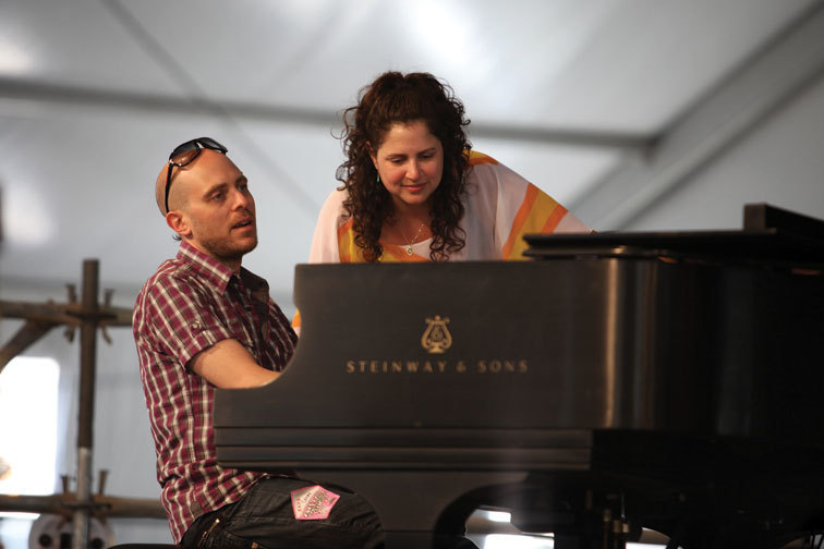 Anat Cohen with Jason Lindner, New Orleans Jazz Festival, April 2011