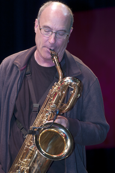 Jon Raskin in performance at the 2012 Guelph Jazz Festival