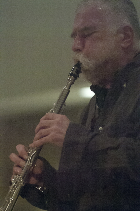 Peter Brötzmann  in performance at the 2012 Guelph Jazz Festival