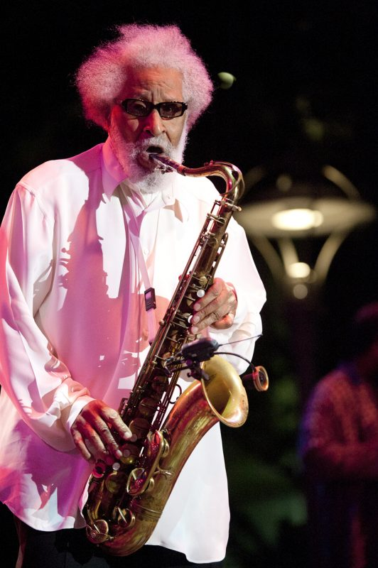 Sonny Rollins performing at the 2012 Detroit Jazz Festival