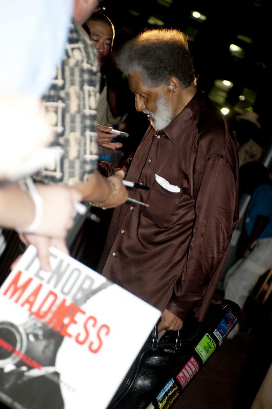 Sonny Rollins signing autographs after performane at the 2012 Detroit Jazz Festival