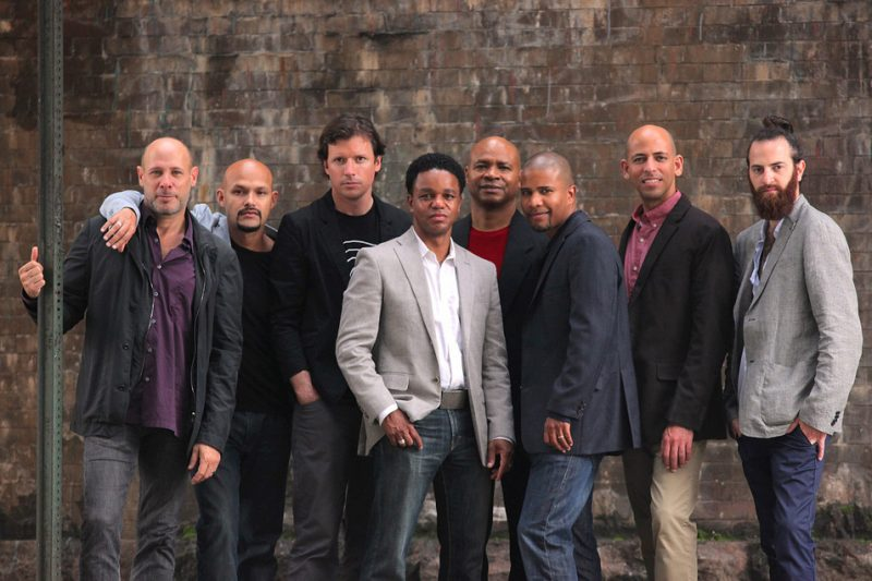 The SFJAZZ Collective 2012, from left: Jeff Ballard, Miguel Zenón, Matt Penman, Stefon Harris, Robin Eubanks, David Sánchez, Edward Simon, Avishai Cohen