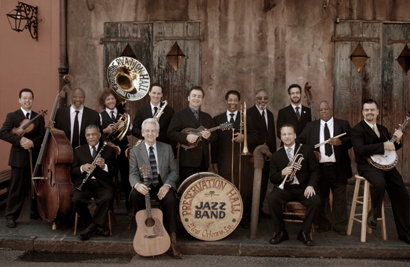 Preservation Hall Jazz Band: The Preservation Hall Jazz Band continues to reach new audiences nightly at the Hall, on tour, and with new collaborations with artists, including The Del McCoury Band (pictured). Photo by Shannon Brinkman