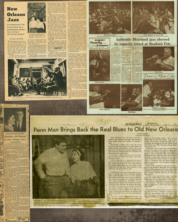 Preservation Hall Jazz Band: Press clippings from Preservation Hall's early days.