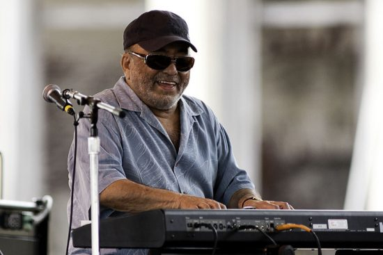 Eddie Palmieri performing with his group at the 2011 Newport Jazz Festival image 0