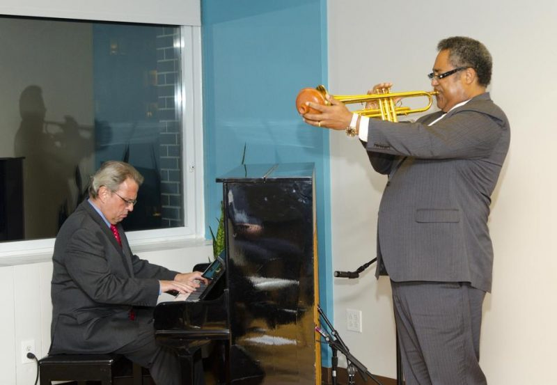 Jon Faddis and David Hazeltine perform at ASCAP Deems Taylor Awards on November 14, 2012 in New York City. Faddis accepted an award for Gwen & Clark Terry for the autobiography of the trumpeter.