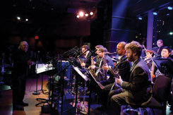 The MSM Jazz Orchestra performing at Dizzy's Club Coca-Cola, NYC, in 2012