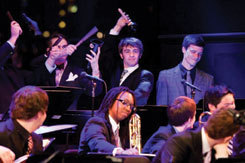 MSM Jazz Orchestra performing at Dizzy's Club Coca-Cola, NYC, in 2012