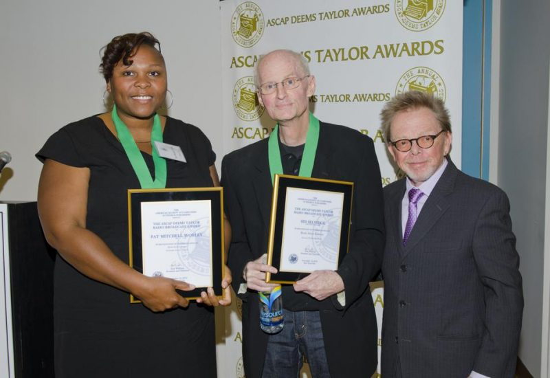 (l -r) Beale Street Caravan host Pat Mitchell Worley, BSC Executive Producer Sid Selvidge, ASCAP President & Chairman Paul Williams at ASCAP Deems Taylor awards ceremony in New York City.