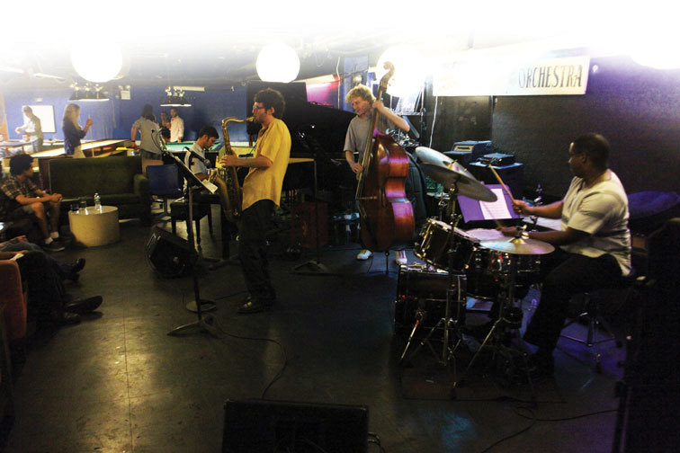 A jam session at Manhattan's Fat Cat featuring saxophonist Asaf Uria, pianist Jack Glottman, bassist Ben Meigners and drummer Darrell Green