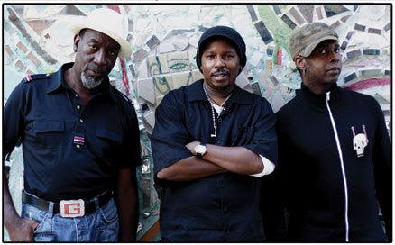 The Free Form Funky Freqs: Jamaaladeen Tacuma, G. Calvin Weston, Vernon Reid. Photo courtesy of Thirsty Ear