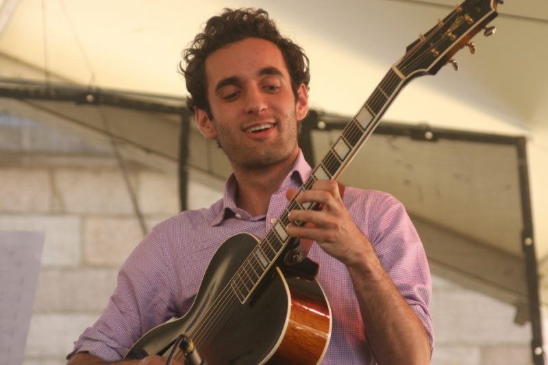 Julian Lage performing with Mark O'Connor and Hotswing  at 2010 CareFusion Newport Jazz Festival