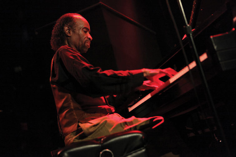 Pianist/vocalist Johnny O'Neal sitting in at Dizzy's Club Coca-Cola, NYC, 2012