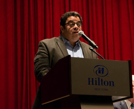 Arturo O'Farrill gave a passionate, inspiring address at the Jazz Connect Conference, Jan. 2013 image 0