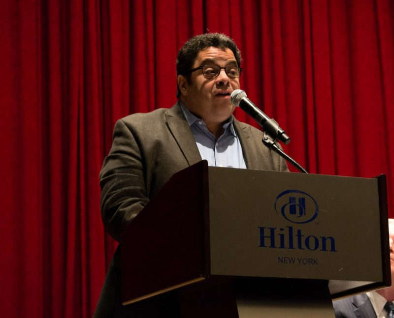 Arturo O'Farrill gave a passionate, inspiring address at the Jazz Connect Conference, Jan. 2013